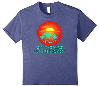 Thomas Laboratories Tropical St. Us Virgin Islands Vacation Hammock Shirt