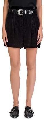 The Kooples Velvet Paperbag-Waist Shorts