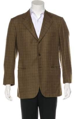 Kiton Cashmere Check Blazer