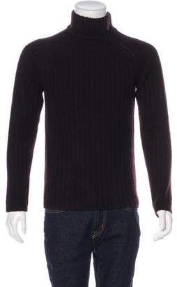 Gucci Zip-Accented Cashmere Mock Neck Sweater