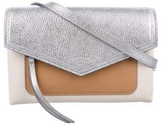 Givenchy Duetto Metallic Leather Shoulder Bag
