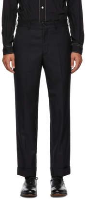 Comme des Garcons Homme Deux Black Tasmania Wool Trousers