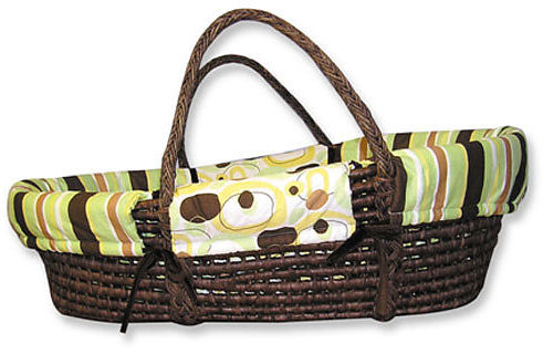 Trend Lab Moses Basket Set - Brown Giggles