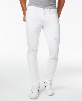 Sean John Men's Essex Slim-Fit Stretch White Destroyed Jeans $89.50 thestylecure.com