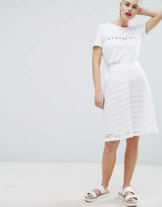 Selected Broderie Anglaise Skirt