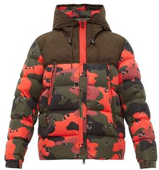 Moncler Eymeric Camouflage Down Filled Jacket - Mens - Red Multi