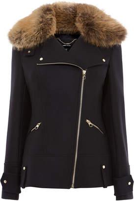 Karen Millen Wool Aviator Jacket