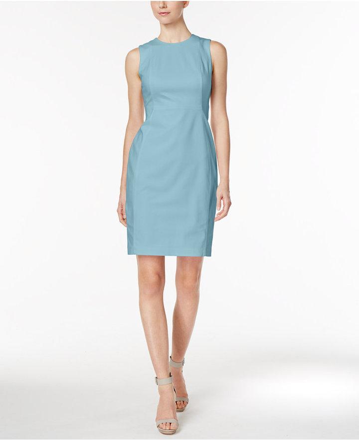 Calvin Klein Stretch Canvas Sheath Dress 3