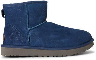 UGG Dark Denim Classic Milky Way Real Fur-Lined Boots