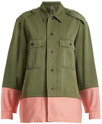 MYAR Hungarian contrast-colour military jacket