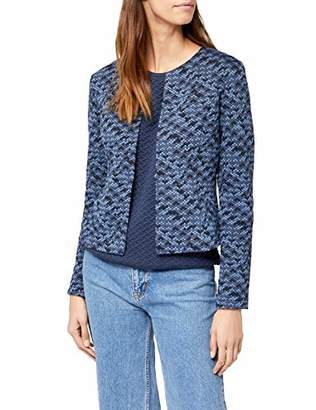 Tom Tailor Women's Colourful Blazer Suit Jacket, (Real Navy Blue 6593), (Size: Large)