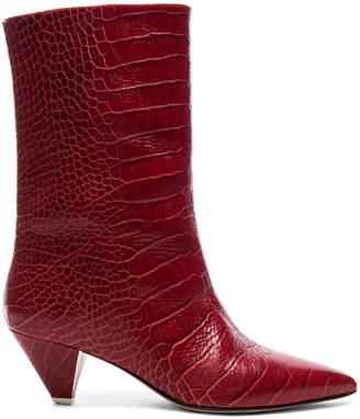 ATTICO Croc Embossed Sofia Boots