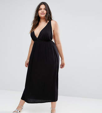 Asos DESIGN CURVE Halter Maxi Dress