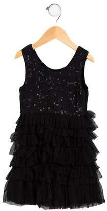 Alice + Olivia Girls' Sequined Tiered Dress w/ Tags