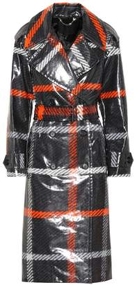 Marc Jacobs Plaid coated cotton trench coat