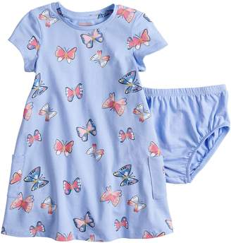 Baby Girl Jumping Beans Floral Print Recess Dress & Bloomers Set