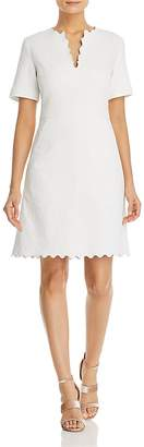 Tory Burch Bailey Scalloped Jacquard Dress