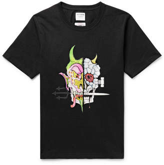 Wacko Maria + Wolf's Head Printed Cotton-Jersey T-Shirt