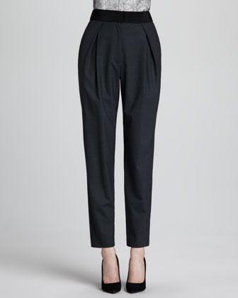 Milly Straight-Leg Crepe Trousers