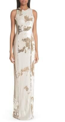 GALVAN Sequin Column Gown