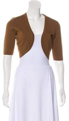Michael Kors Wool Open Front Cardigan Brown Wool Open Front Cardigan