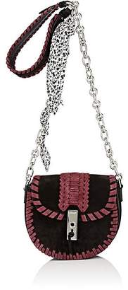 Altuzarra WOMEN'S GHIANDA MINI CHAIN SADDLE BAG-BURGUNDY, BLACK