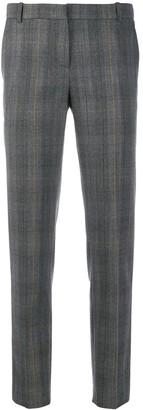 Kiltie plaid print trousers