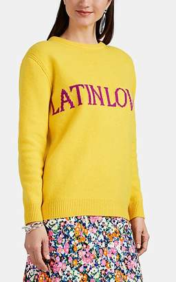 "Alberta Ferretti Women's ""Latin Lover"" Wool-Cashmere Crop Sweater - Yellow"
