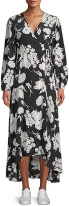 Ganni Kochhar Silk Hi-Lo Maxi Dress