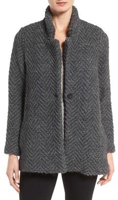 Women's Eileen Fisher Chevron Wool Blend Jacket $418 thestylecure.com
