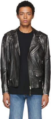 Diesel Black L-Ingran Leather Jacket