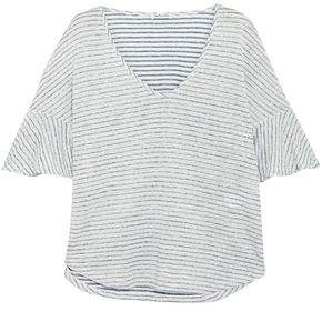 Splendid Striped Linen And Cotton-blend Jacquard T-shirt