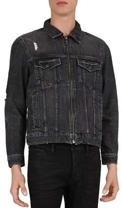 The Kooples Distressed Denim Jacket