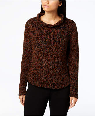 Eileen Fisher Organic Cotton Blend Long-Sleeve Funnel-Neck Sweater