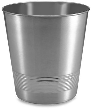 Two-Tone Stainless Steel Wastebasket