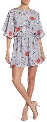 Parker Flared Sleeve Mini Dress