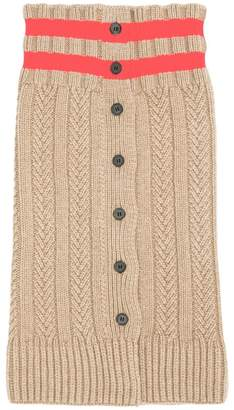 Jil Sander stripe cable-knit scarf