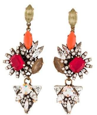 Erickson Beamon Crystal Embellished Drop Earrings
