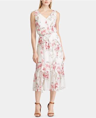 American Living Floral Georgette Dress