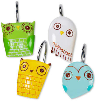 Creative Bath Accessories, Give a Hoot Shower Hooks, Set of 12