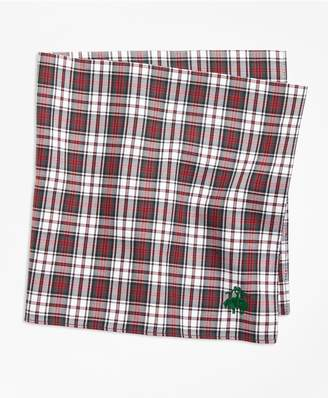 Brooks Brothers Dress Stewart Tartan Pocket Square