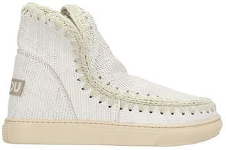 Mou Eskimo Ankle Boots Sneakers In White Leather