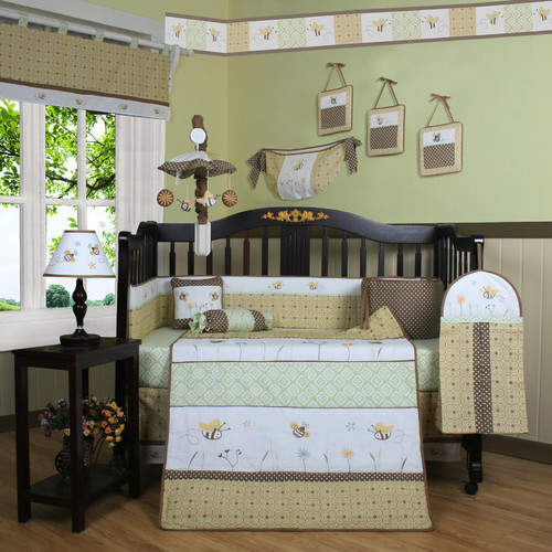 Bumble BeeGeenny Boutique Bumble Bee 13 Piece Crib Bedding Set