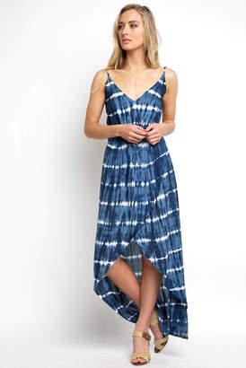 Tiare Hawaii Bare Surplice Tie Dye Wrap Maxi Dress