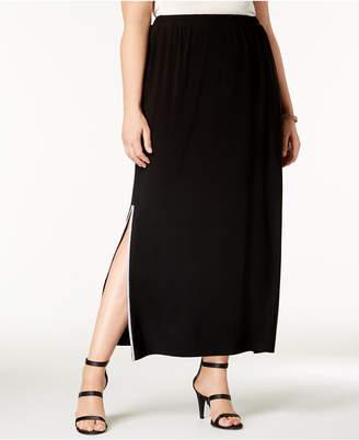 MSK Plus Size Rhinestone-Embellished Maxi Skirt