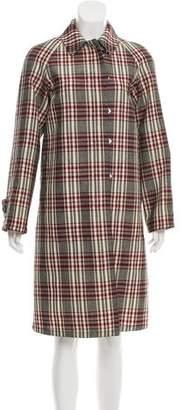 Derek Lam Plaid Wool Coat w/ Tags