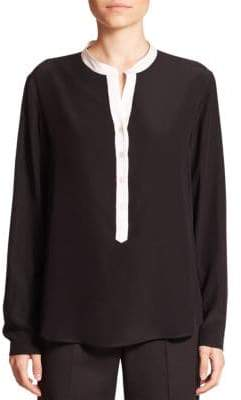 Stella McCartney Eva Silk Tuxedo Blouse