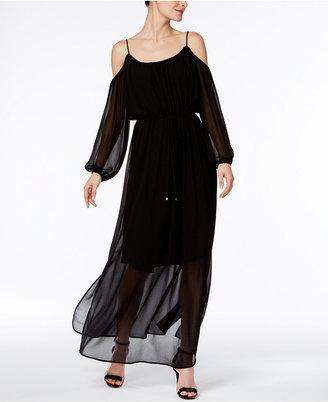 Calvin Klein Floral-Print Cold-Shoulder Maxi Dress $129.50 thestylecure.com