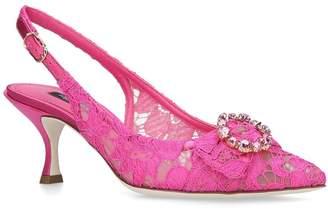 Dolce & Gabbana Satin Lori Slingback Pumps 60