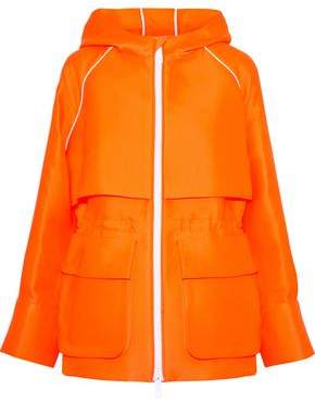 Emilio Pucci Neon Cotton-Blend Twill Hooded Jacket